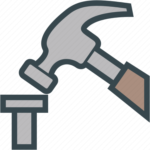 Hammer, hardware, nail, pound, tool icon - Download on Iconfinder