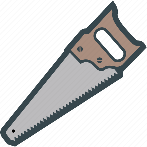 hand, handsaw, saw, sawing, wood icon