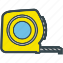 measure, measuring, meter, tape icon