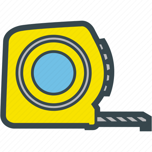 measure, measuring, meter, tape icon