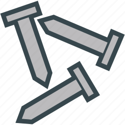 carpenter, hammer, mason, nails icon