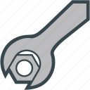 nut, screw, tool, work, wrench icon