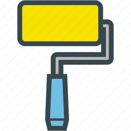 brush, color, paint, roller icon