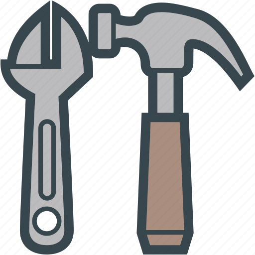 Adjustable, hammer, tools, wrench icon - Download on Iconfinder