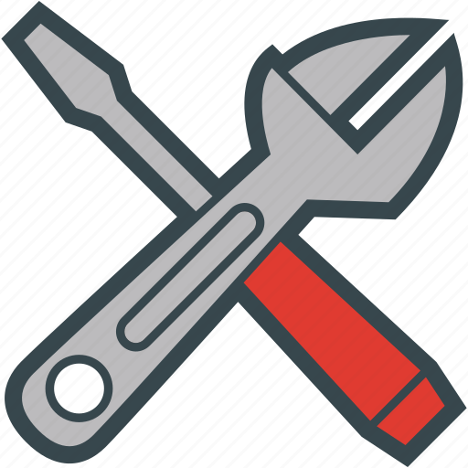 adjustable, screwdriver, tools, wrench icon