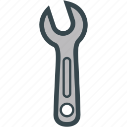 nut, screw, tool, wrench icon