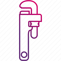 pipe, plumb, tube, wrench icon