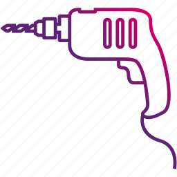 broach, drill, power, tool icon
