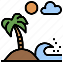 beach, hawaii, nature, relaxing, sun, trip, vacations icon