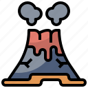 burn, danger, disaster, eruption, natural, nature, volcano icon