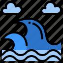 beach, naturev, sea, vacation, wave icon