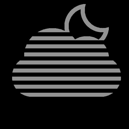 cloud, fog, moon icon