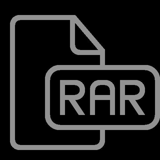 document, file, rar icon