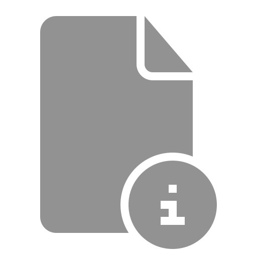 document, information icon