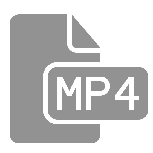 document, file, mp4 icon