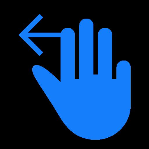 fingers, left, swipe, three icon