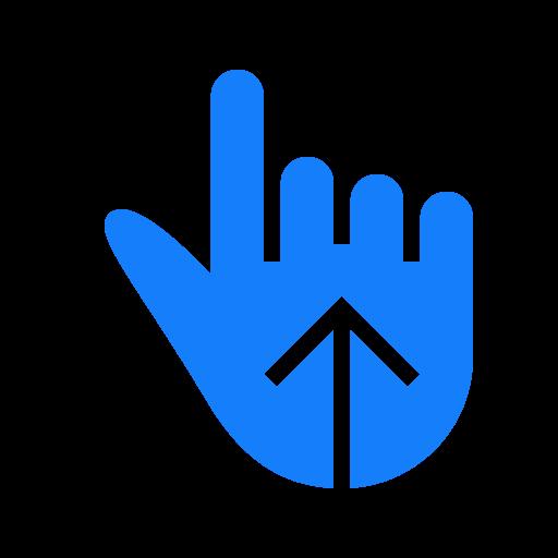 finger, one, swipe, up icon