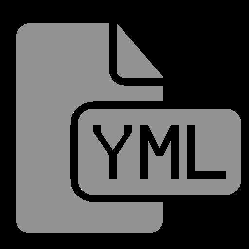 document, file, yml icon