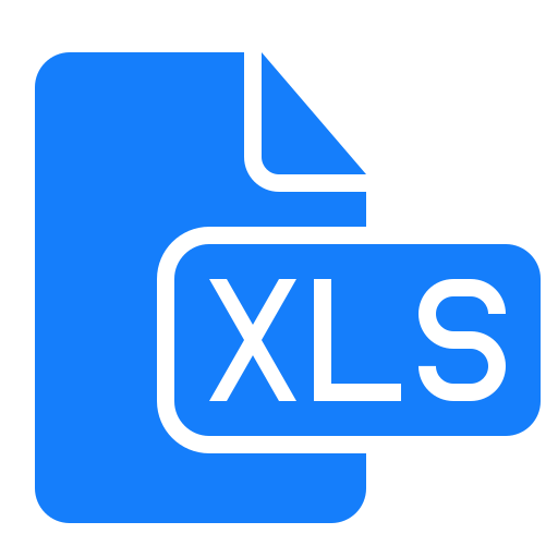 document, file, xls icon