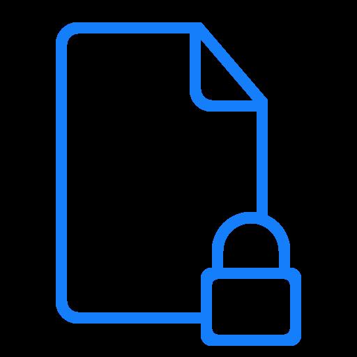 document, locked icon