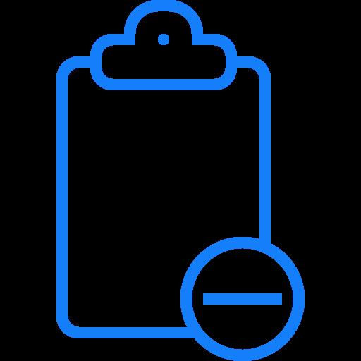 clipboard, remove icon