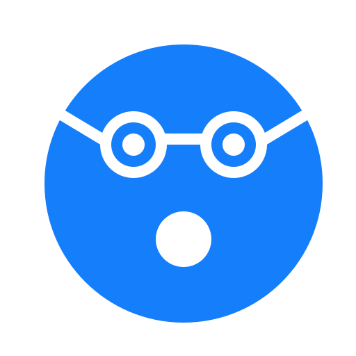 face, flashed, glasses icon