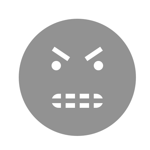 angry, face, teeth icon