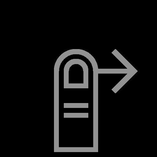 finger, one, right, swipe icon