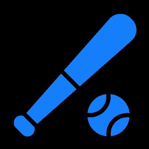 baseball, set icon