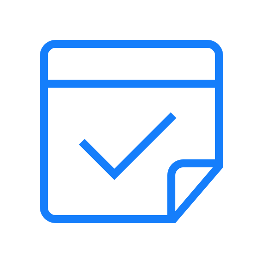 checked, note icon