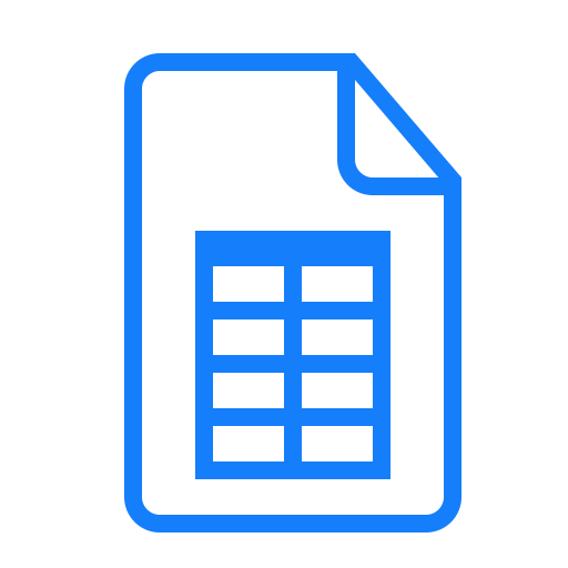 document, table icon