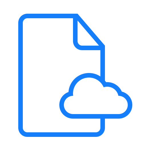 cloud, document icon