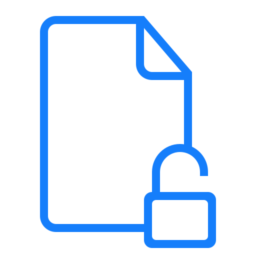 document, unlocked icon