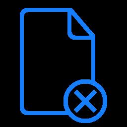 cancel, document icon