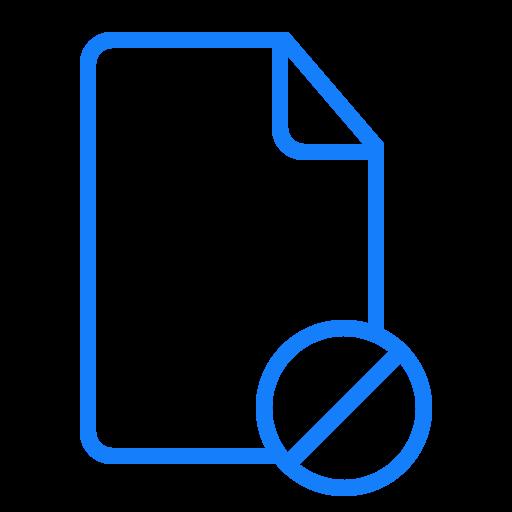 document, forbidden icon