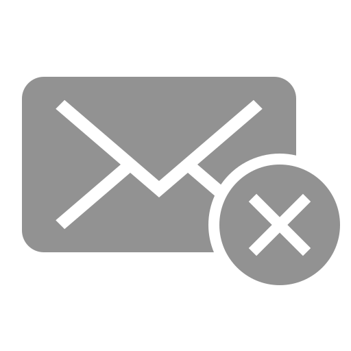 cancel, mail icon
