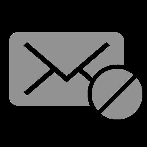 forbidden, mail icon