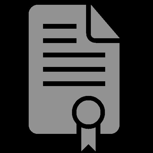 certificate, document icon