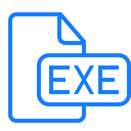 document, exe, file icon