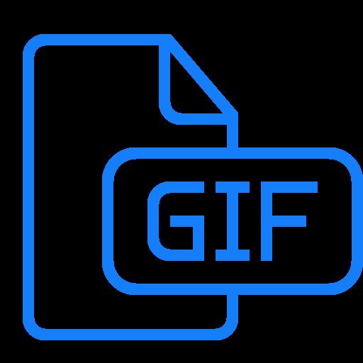document, file, gif icon