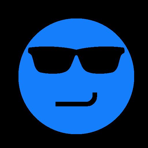 face, smirking, sunglasses icon