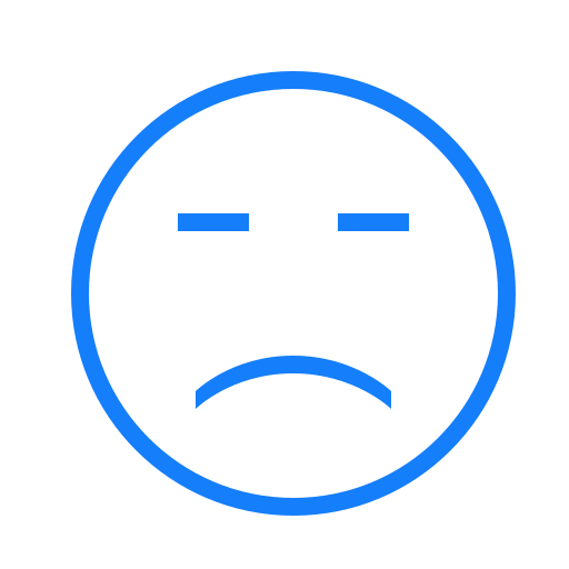 face, sad icon