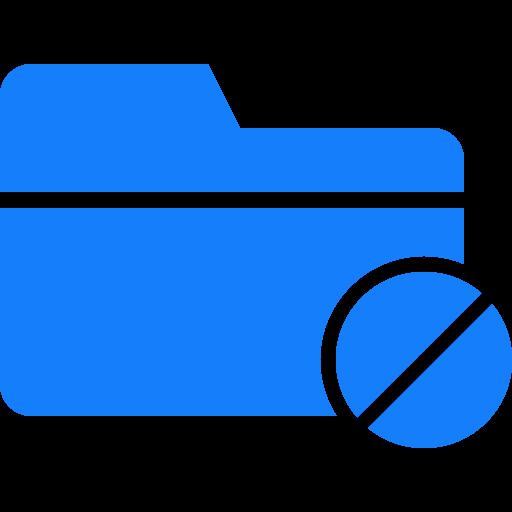 folder, forbidden icon
