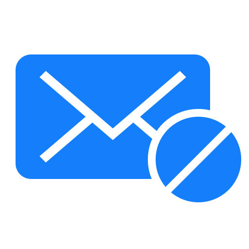 forbidden, mail icon