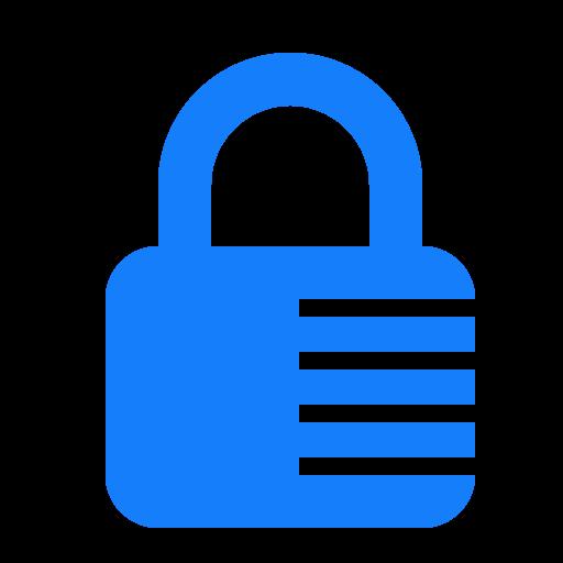 combination, lock icon