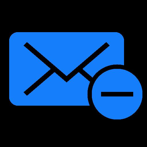 mail, remove icon