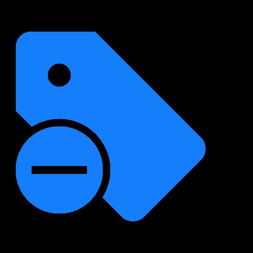 remove, tag icon