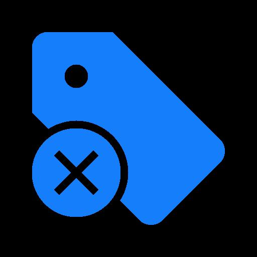 cancel, tag icon