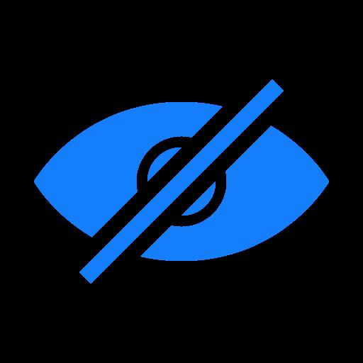eye, hidden icon
