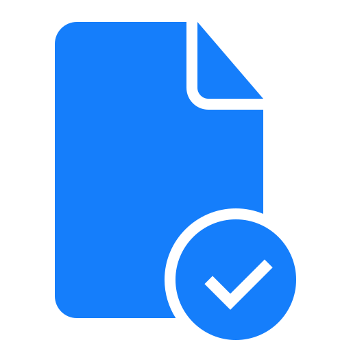 checked, document icon